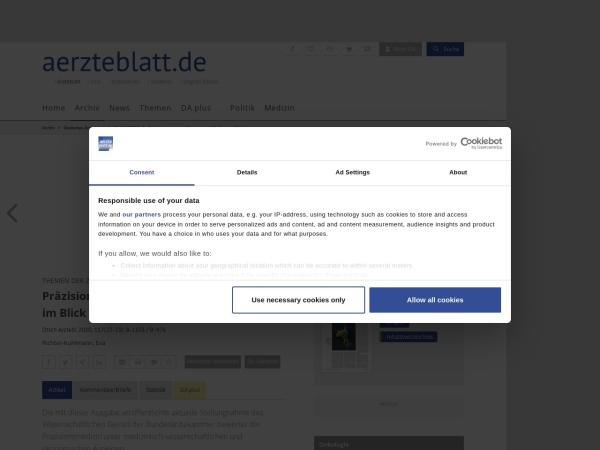 Screenshot von www.aerzteblatt.de