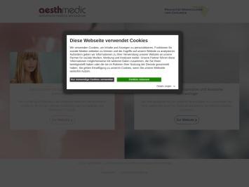 Screenshot von www.aesthmedic.de