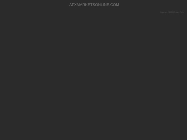 Screenshot of www.afxmarketsonline.com