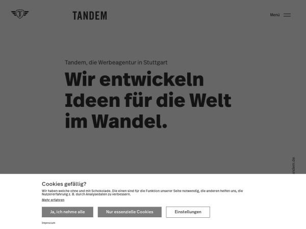 Screenshot von www.agentur-tandem.de