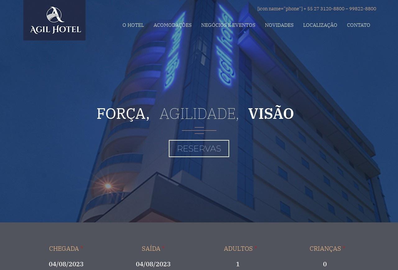 Screenshot of www.agilhotel.com.br