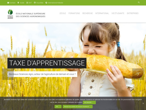 Screenshot of www.agro-bordeaux.fr