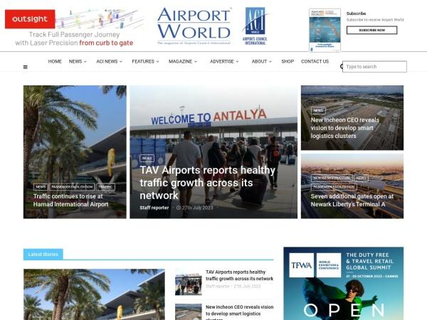 Screenshot of www.airport-world.com