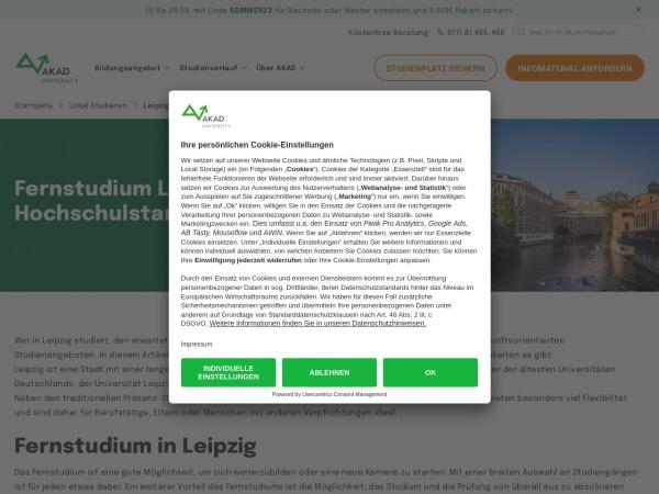 Screenshot of www.akad.de