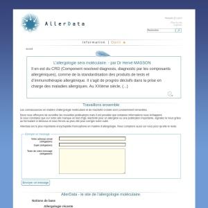 Screenshot of www.allerdata.com