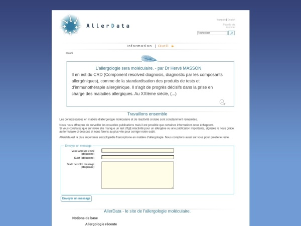 Screenshot of www.allerdata.com