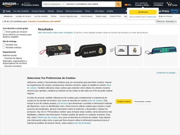 Captura de pantalla de www.amazon.es