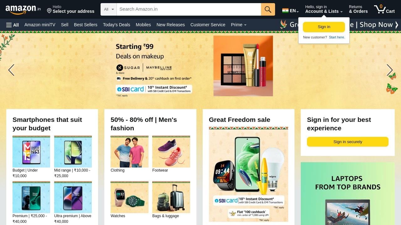 亚马逊印度站官网