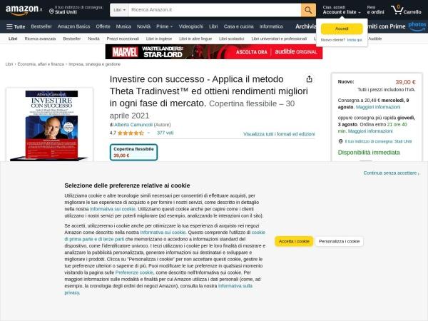 Screenshot of www.amazon.it