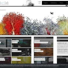 Screenshot of www.ambientartlab.at