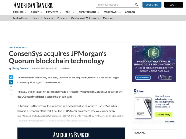 Screenshot of www.americanbanker.com