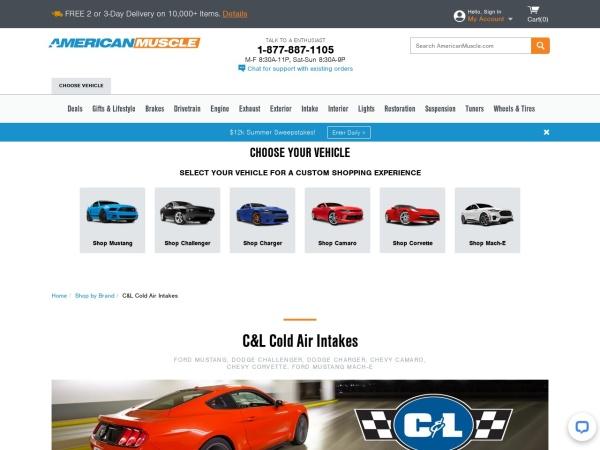Screenshot of www.americanmuscle.com