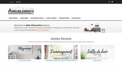 Screenshot of www.ameublements.ca