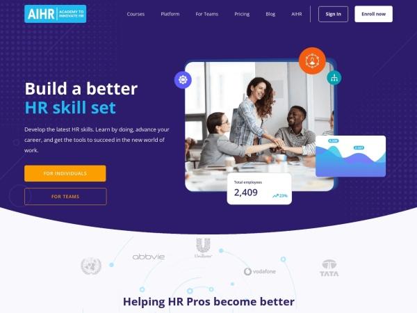 AIHR Analytics Blog Screenshot