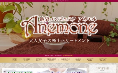 Screenshot of www.ane-mones.net