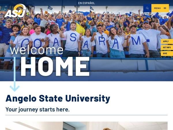Screenshot of www.angelo.edu