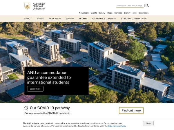 Screenshot of www.anu.edu.au