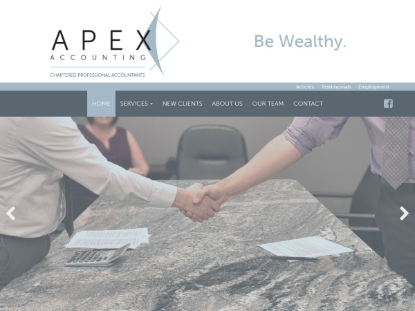 Screenshot of www.apexaccountingcpa.com
