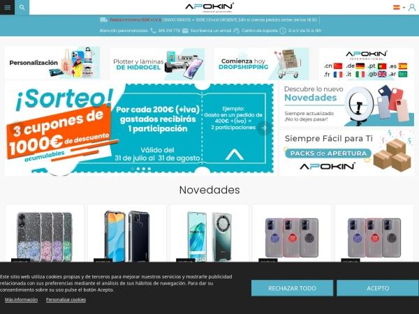 Captura de pantalla de www.apokin.es