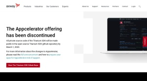 Screenshot of www.appcelerator.com