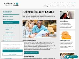 Arbetsmiljölagen AML - arbetsmiljoforum