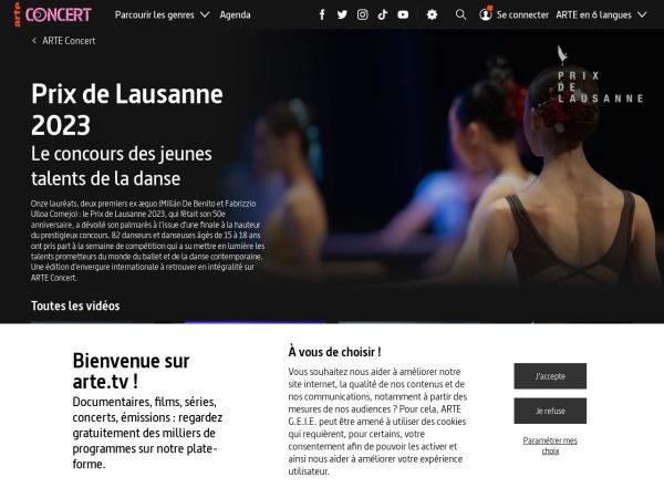 Screenshot of www.arte.tv