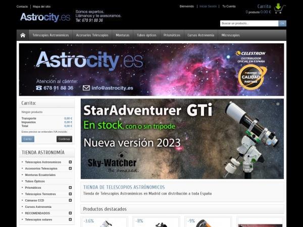 Captura de pantalla de www.astrocity.es