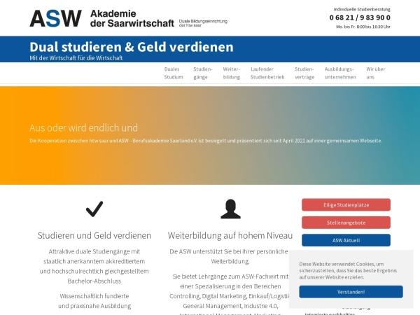 Screenshot of www.asw-berufsakademie.de