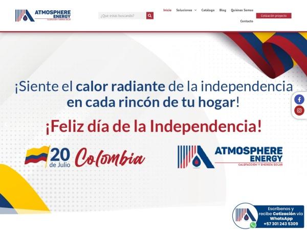 Captura de pantalla de www.atmospherltda.com