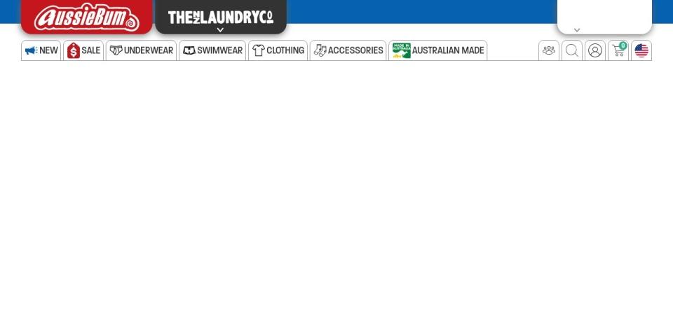 Screenshot of www.aussiebum.com