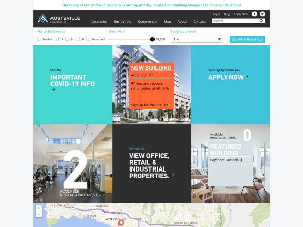 Screenshot of www.austeville.com