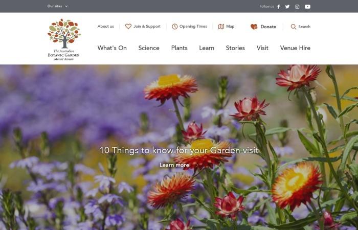 Screenshot of www.australianbotanicgarden.com.au