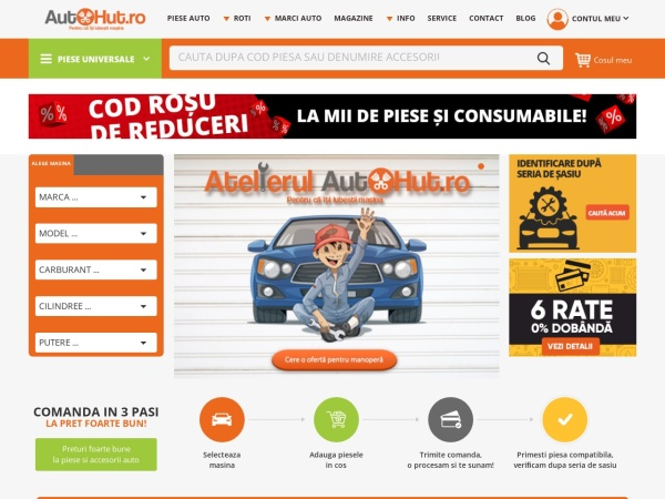 Screenshot of www.autohut.ro