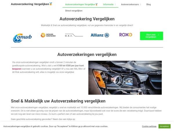 Screenshot of www.autoverzekeringen-vergelijker.nl