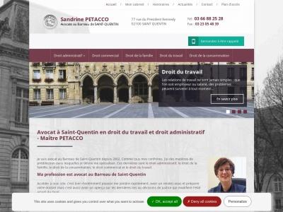 Maître PETACCO Sandrine : une avocate au Barreau de Saint-Quentin pour prendre votre défense