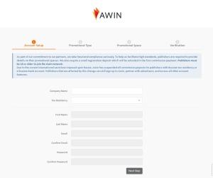 Screenshot of www.awin1.com