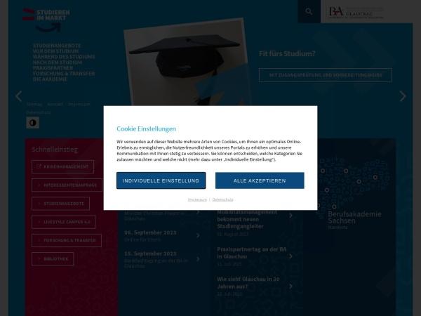 Screenshot of www.ba-glauchau.de