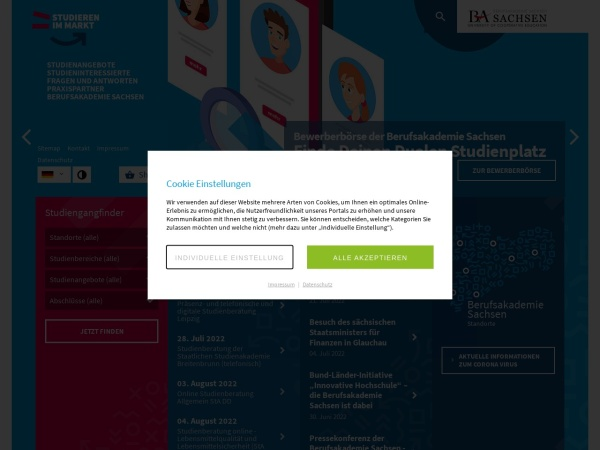 Screenshot of www.ba-sachsen.de