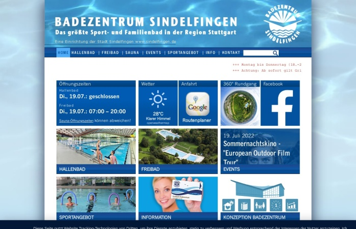Screenshot von www.badezentrum.de