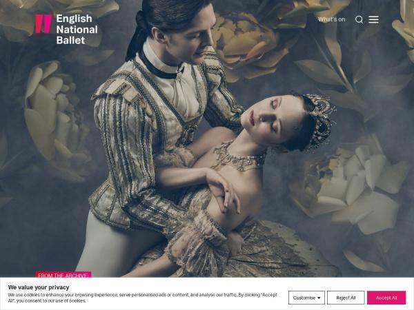 Screenshot of www.ballet.org.uk