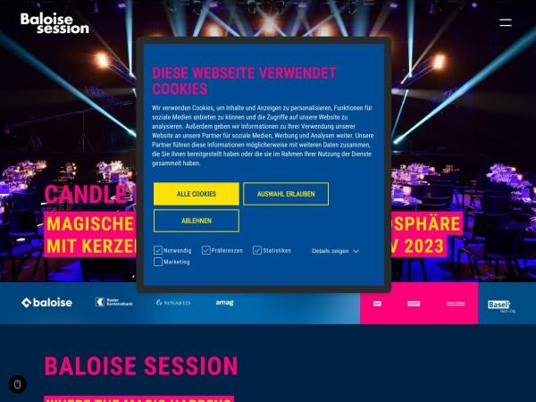 Screenshot von www.baloisesession.ch