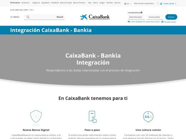 Captura de pantalla de www.bankia.es