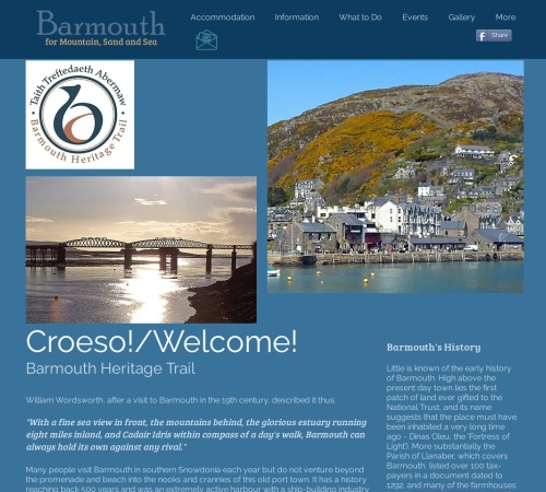 Screenshot of www.barmouth-wales.co.uk