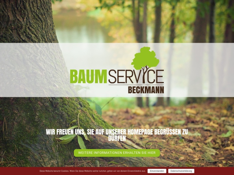 Screenshot of www.baumservice-beckmann.de