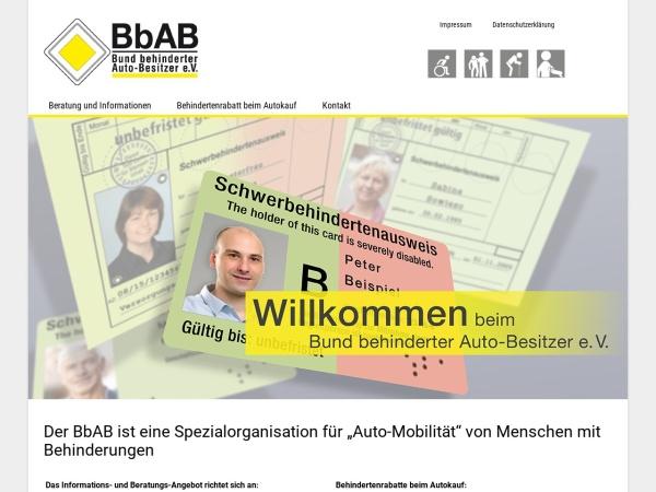 Screenshot von www.bbab.de