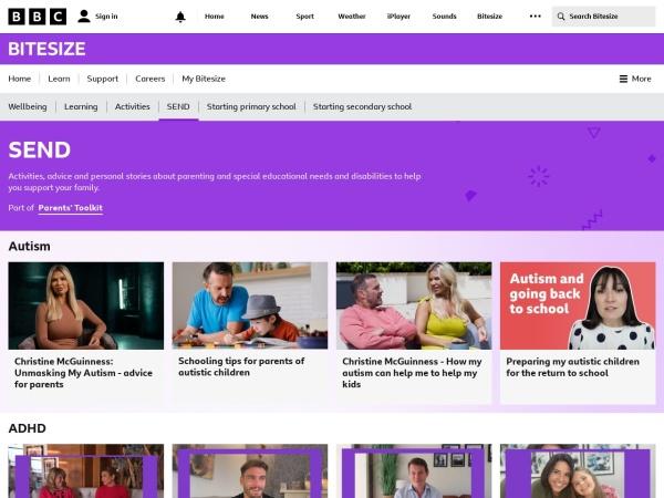 Screenshot of www.bbc.co.uk