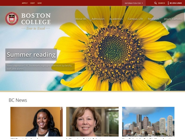 Screenshot of www.bc.edu