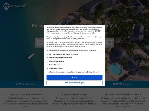 Suchmaschine Beach-Inspector.com