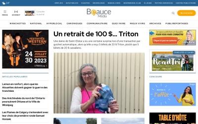 Screenshot of www.beaucemedia.ca
