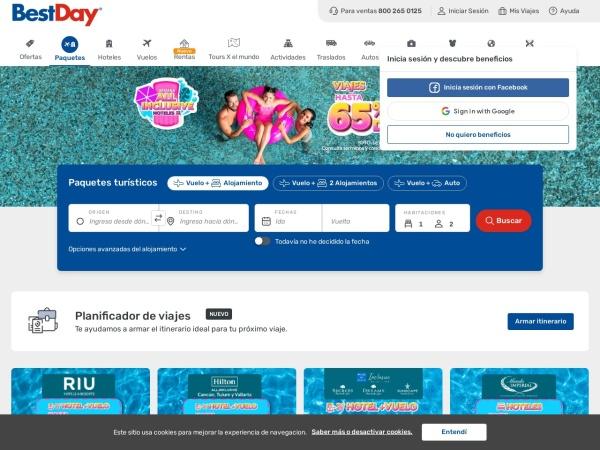 Captura de pantalla de www.bestday.com.mx